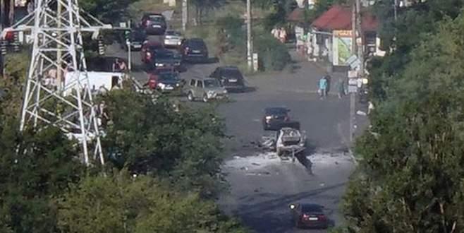 Ukrayna'da araç infilak etti: 1 ölü