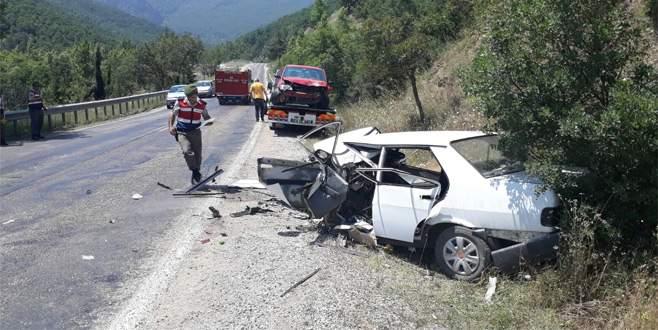 Bursa'da feci kaza: 1 ölü, 9 yaralı
