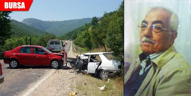 Oğluna bayram ziyaretine geldi, kazada hayatını kaybetti