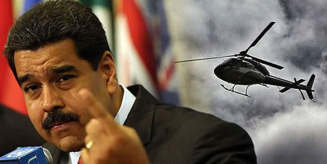 Helikopterden bomba yağdırdı
