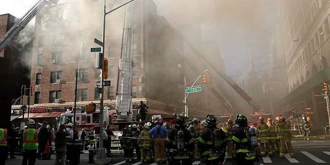 New York'ta apartmanda korkutan yangın