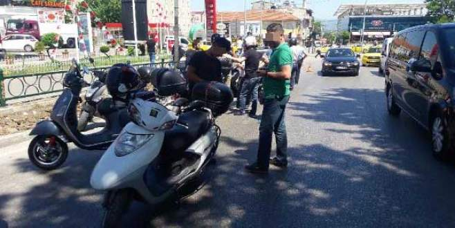 Bursa'da motosiklet sürücülerine sıkı denetim!