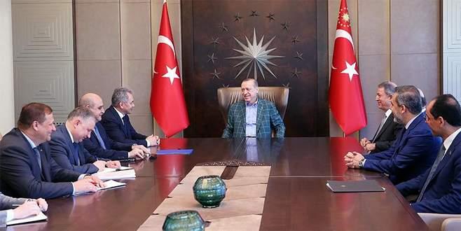 Erdoğan, Rusya Savunma Bakanı Şoygu'yu kabul etti