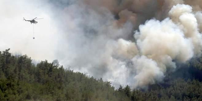 Dev yangına 2 bin personelle müdahale ediliyor