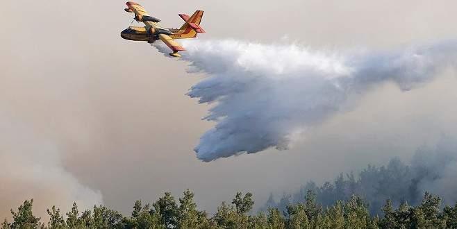 İzmir'deki orman yangını söndürme çalışmaları sürüyor