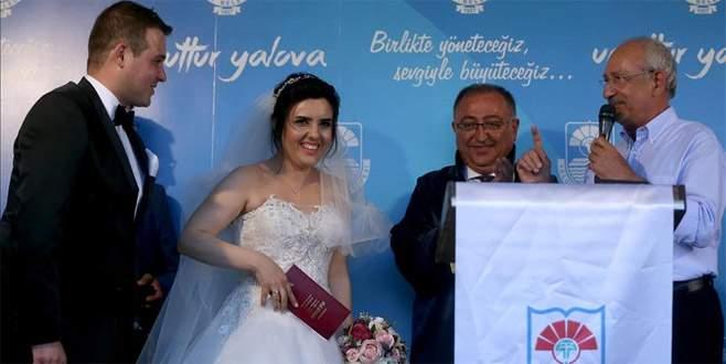 Kılıçdaroğlu, nikah şahidi oldu