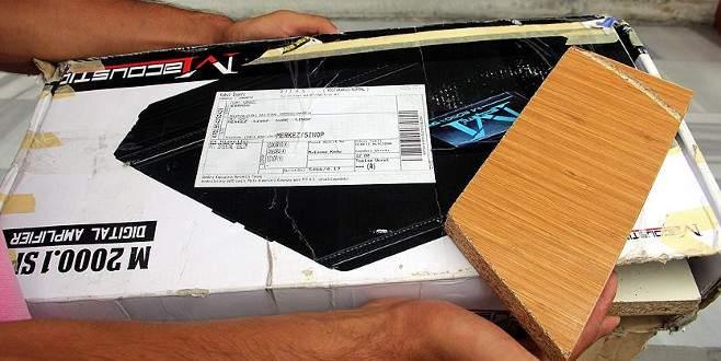 Kargo paketinde amfi beklerken tahta parçalarıyla karşılaştı