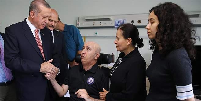 Erdoğan'dan darbeciler tarafından vurulan Aslan'a ziyaret