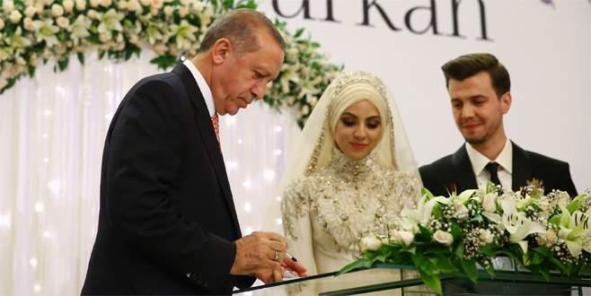 Erdoğan, Kahraman ve Yıldırım nikah şahidi oldu
