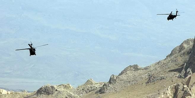 Kars'ta teröristlere hava destekli operasyon