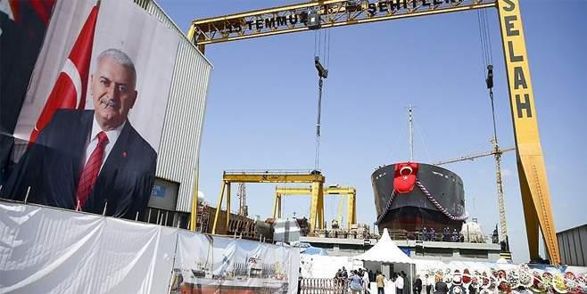 Lojistik destek gemisi denize indirildi