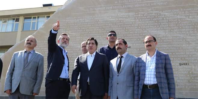Bursa'da 15 Temmuz Şehitler Anıtı açılacak