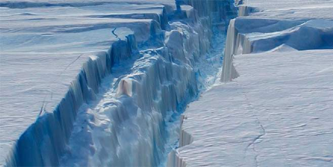 Antarktika'dan dev kopuş