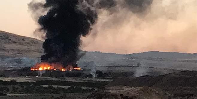 Kilis'te askeri alandaki yangın kontrol altına alındı