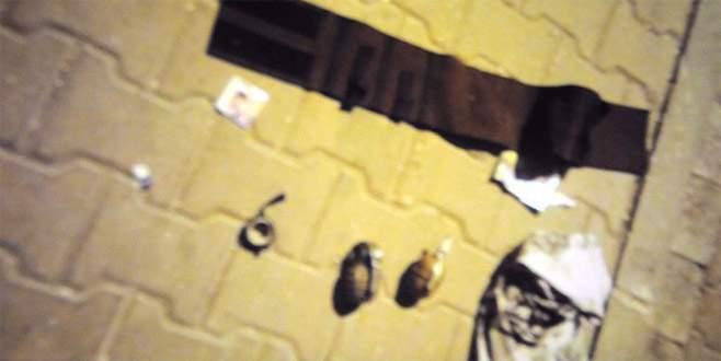 Polisten kaçan zanlıların üzerinde 2 el bombası bulundu