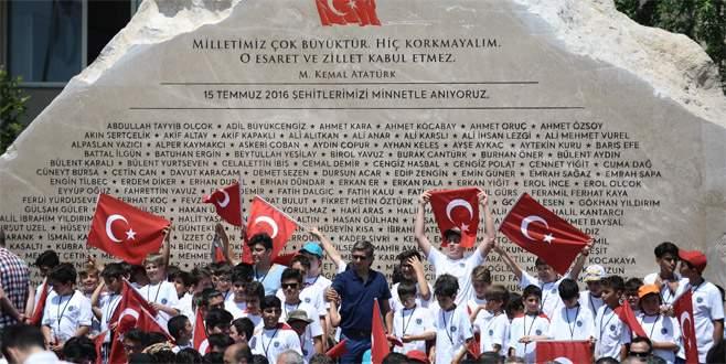 15 Temmuz Şehitler Anıtı açıldı