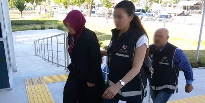 Cezaevine mektup sokmaya çalışan FETÖ'cünün eşi tutuklandı