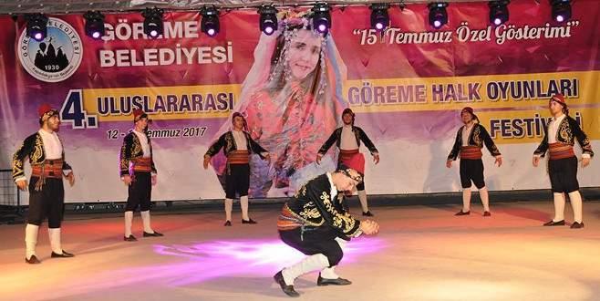 Göreme Halk Oyunları Festivali'nde konuk ekipler gösteri sundu