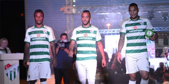 Bursaspor'un yeni sezon formaları görücüye çıktı