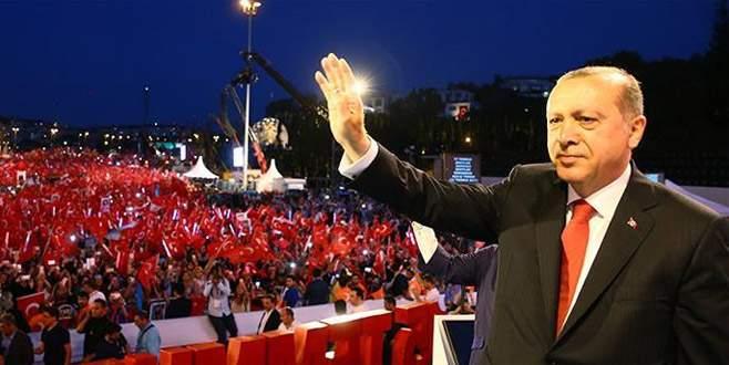 Erdoğan'dan sesli mesaj