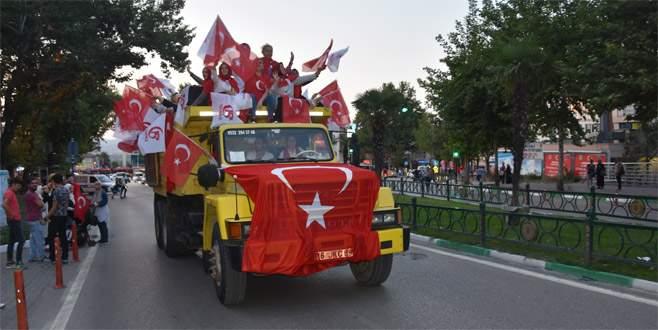 15 Temmuza kamyonu ile adını yazdıran kadın Bursa'da