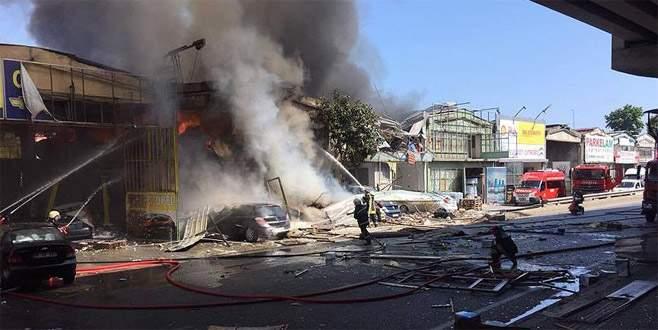 Sanayi sitesinde patlama: 11 yaralı