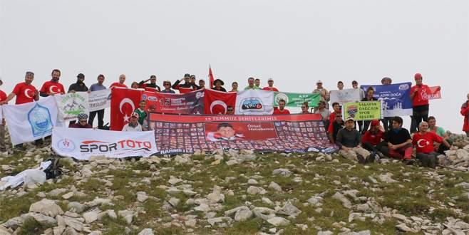 15 Temmuz şehitleri Uludağ'ın zirvesinde anıldı