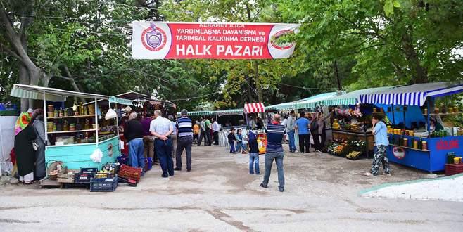Keramet Ilıcası'nda halk pazarı