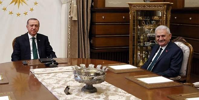 Cumhurbaşkanı Erdoğan, Başbakan Yıldırım'ı kabul ediyor