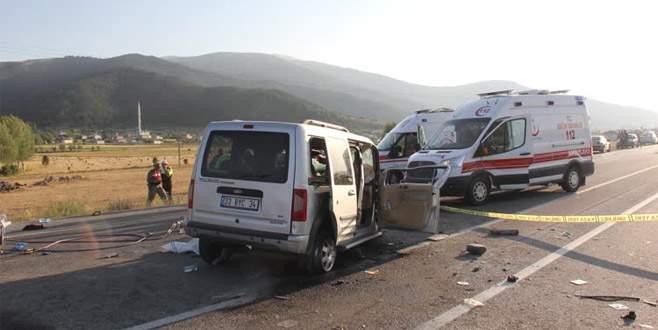 Korkunç kaza: 4 ölü, 5 yaralı