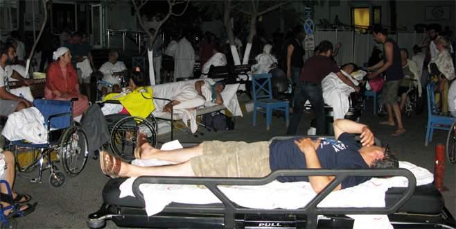 Deprem sonrası 358 kişi hastanelere başvurdu