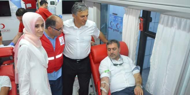 Kan bağışına koştular