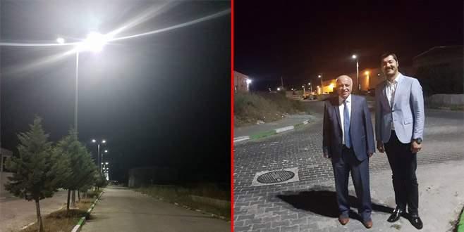 Bursa İhtisas Deri OSB'de aydınlatma sorunu aşıldı