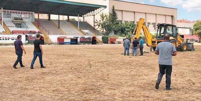 Orhangazi Stadı hibrit çim oluyor