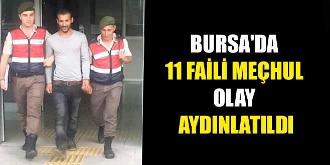 Bursa'da 11 faili meçhul hırsızlık olayı aydınlatıldı