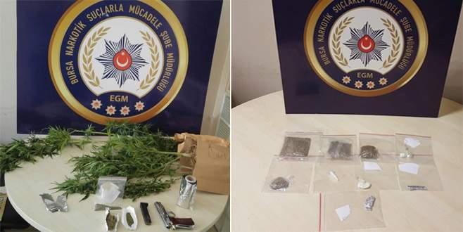 Bursa'da uyuşturucu operasyonları