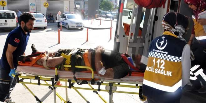 Otomobil yağmur suyu kanalına düştü: 2 yaralı