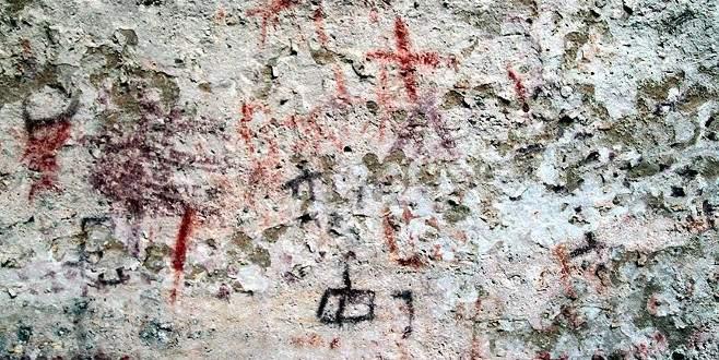 Eski taş çağına ait mağara resimleri bulundu
