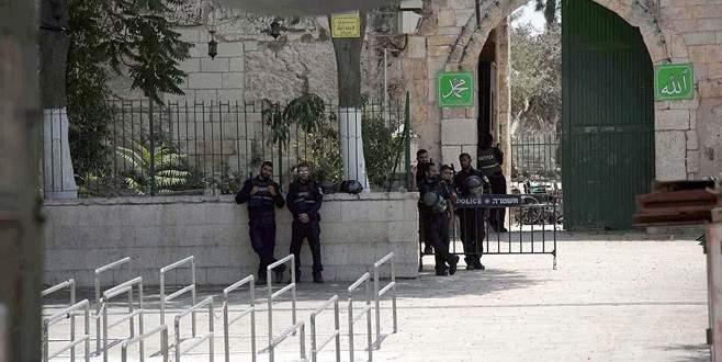 İsrail'in tüm uygulamaları sona ermeden Harem-i Şerif'e girilmeyecek