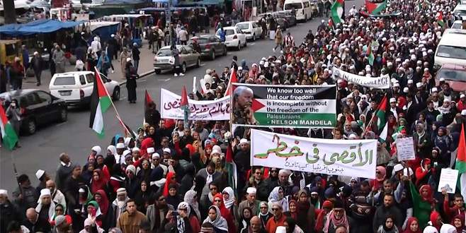 Güney Afrika'dan Filistin'e destek yürüyüşü