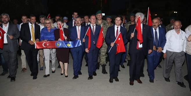 Kosova'dan 'Milli İrade' yürüyüşü
