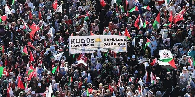 Arap basınında Yenikapı'daki 'Büyük Kudüs Mitingi'