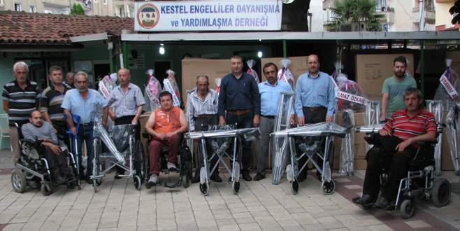 Engelliler derneğinden ihtiyaç sahiplerine destek