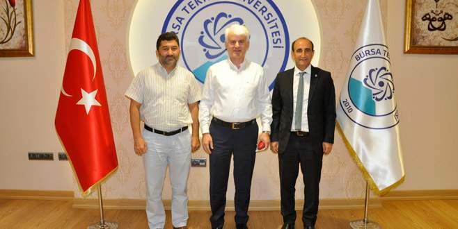 Şahin ve Edebali'den BTÜ'ye destek ziyareti