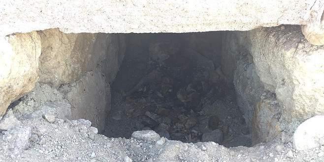 İnşaat alanında 'Geç Roma' dönemine ait mezar bulundu