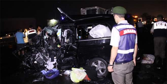 Korkunç kaza: 6 kişilik aile yok oldu