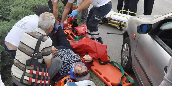 Bursa'daki kazada bir an olsun elini bırakmadı