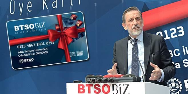 37 bin üyeye 'BTSOBİZ KART'