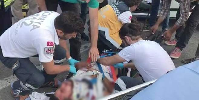 Kazada yaralanan sürücü 'Bana biri mi çarptı?' diye sordu