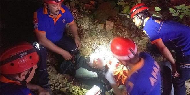 Uludağ'da düşerek yaralanan doktoru AFAD kurtardı